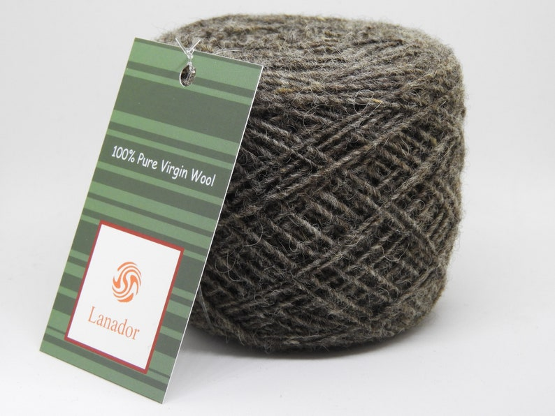 Pure Virgin Wool  Dark Gray Natural Color  Undyed Yarns for image 1
