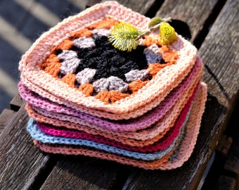 Square Coasters, Set of 10 Drink Coasters, Merino Yarn, Mug Rugs, Country Farmhouse Style, Crochet Coasters, Best Selling Items