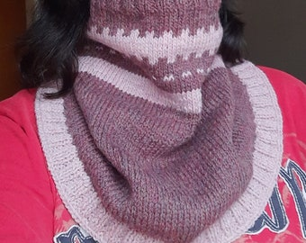 Knitting Pattern for Neck Warmers Shawls Cowls - Multicolored Merino Yarn - Spring Fall Winter Accessories