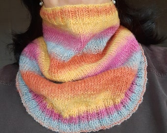 Knitting Pattern for Neck Warmers and Cowls - PDF Instant Download - Merino Wool Yarn - Winter Spring Fall Accessories