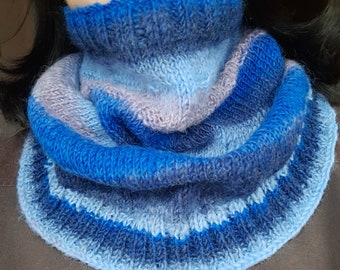 Knitting Pattern for Neck Warmers Shawls Cowls - Multicolored Merino Yarn - PDF Instant Download