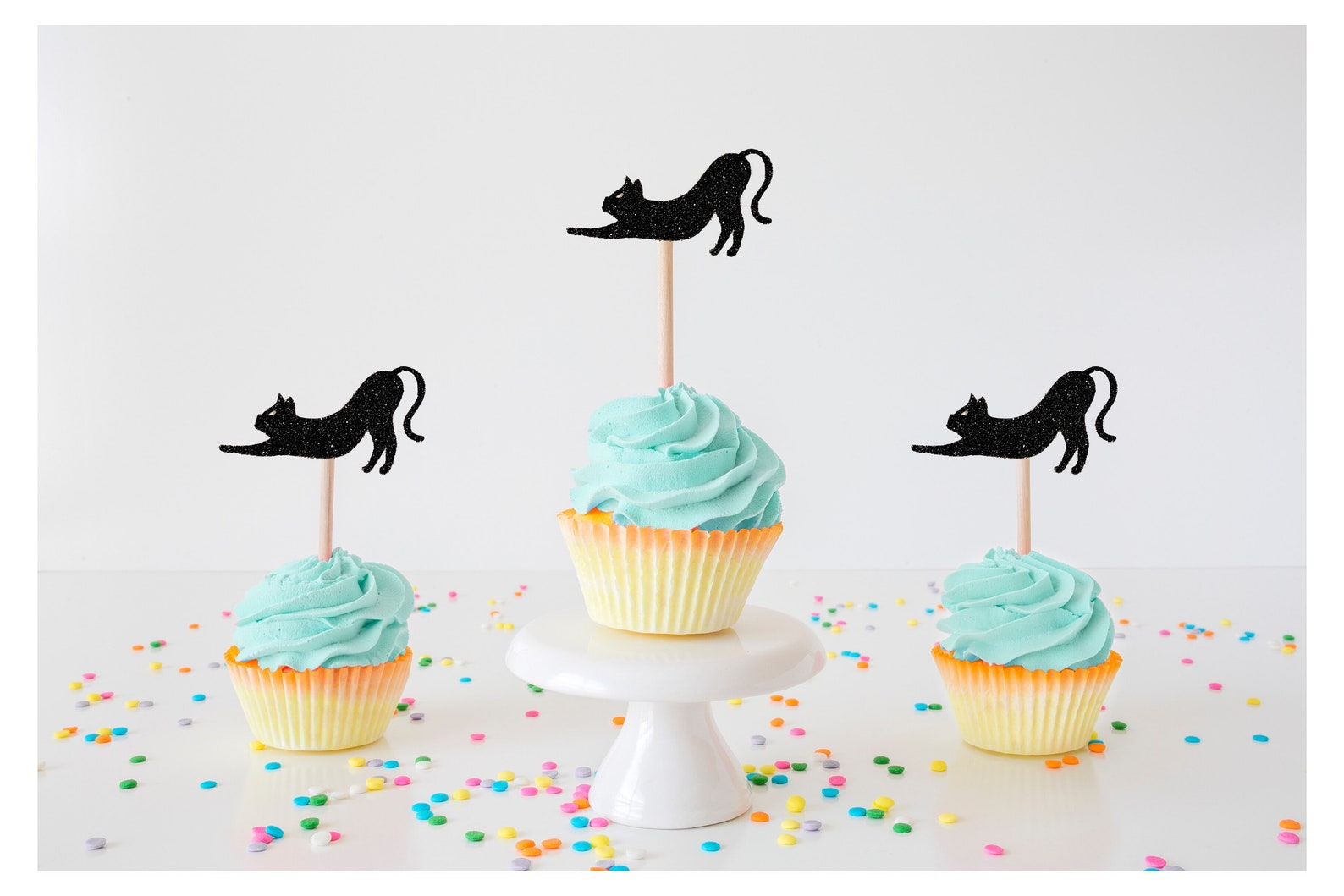 Halloween Cat Cupcake Picks Page Two