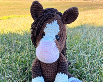 Indie the Horse Crochet PDF Pattern ONLY, Digital PDF