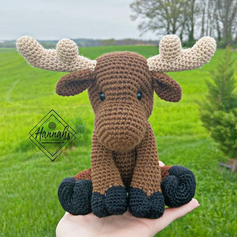 Ripley the Moose Crochet PDF Pattern ONLY Amigurumi Moose image 0