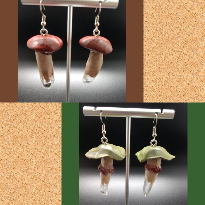 Handmade Clay mushroom earrings