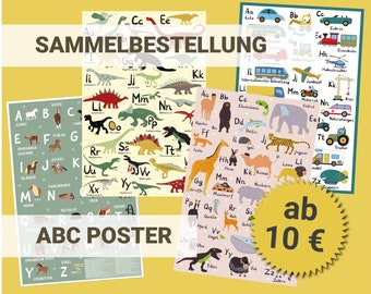 ABC Poster Children's Preschool and Primary School for Children's Rooms in collective order