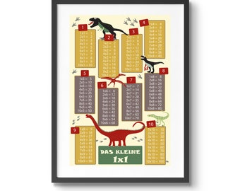 1x1 poster dinosaurs for the children's room at the beginning of school or for school enrollment