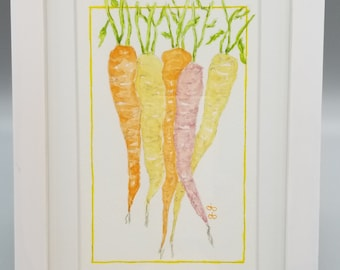 Carrots  Original Watercolor Painting
