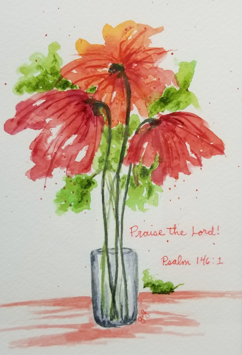 Psalm 146:1  Original Watercolor Painting