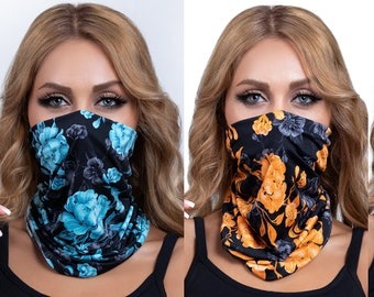 Cooling Neck Gaiter Face Mask for Men & Women - UV Protection 30 SPF - Lightweight Breathable for Outdoor Sports