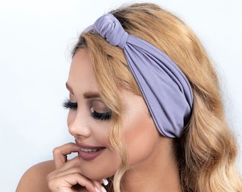 Multi style stretch Knotted Headband, Turban Headband Wide Headband Yoga Headband blue headband head wrap grey sports women's headband gifts