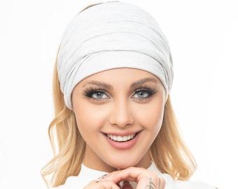 Scrunch Headband in colors, Extra Wide Headband Turban Headband black white headband Boho Headband Boho head wrap women teen girls
