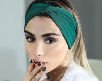 Multi style stretch headband 11 colors green headband head wrap headbands for women tie dye headband sports headband women's headband gifts