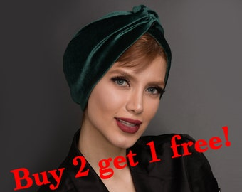 Women Knotted Velvet Hijab Bow Rabbit Ears Muslim Turban Chemo Cap Head Wrap