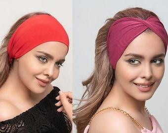Multi style stretch headband 11 colors white headband head wrap womens white headband no slip sports headband women's hair band gifts