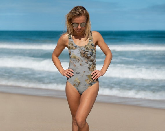Pebbles On The Sand Adult One-Piece Swimsuit