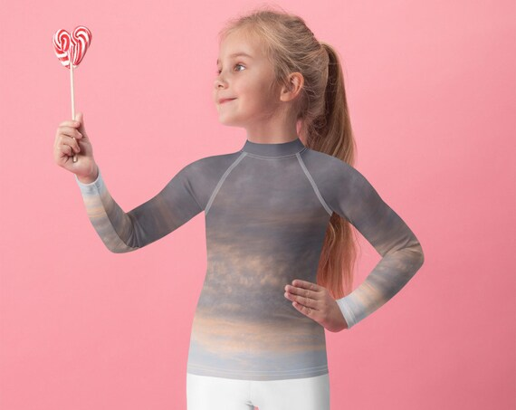 Stormy Sky Kids Rash Guard