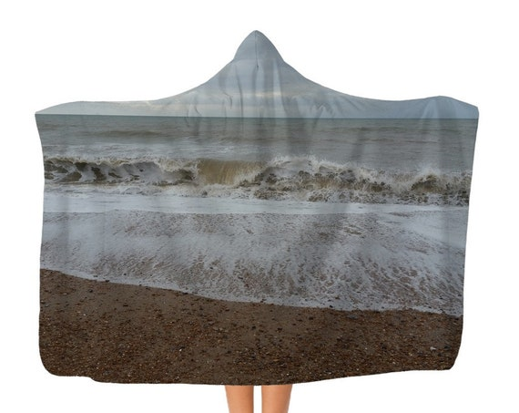 Premium Raging Waves Adult Hooded Blanket