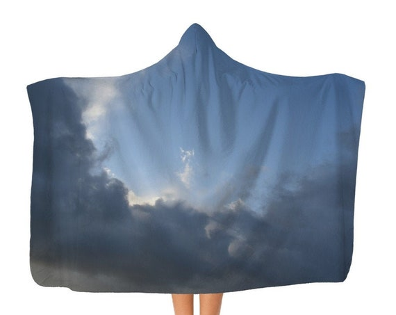 Premium Stormy clouds Adult Hooded Blanket