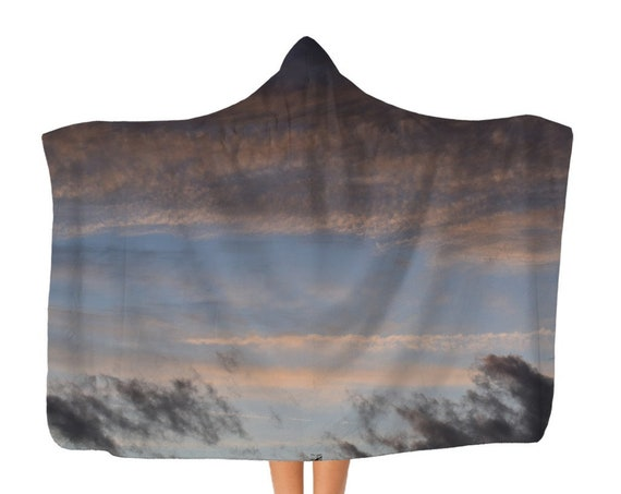 Premium Stormy Night Sky Adult Hooded Blanket