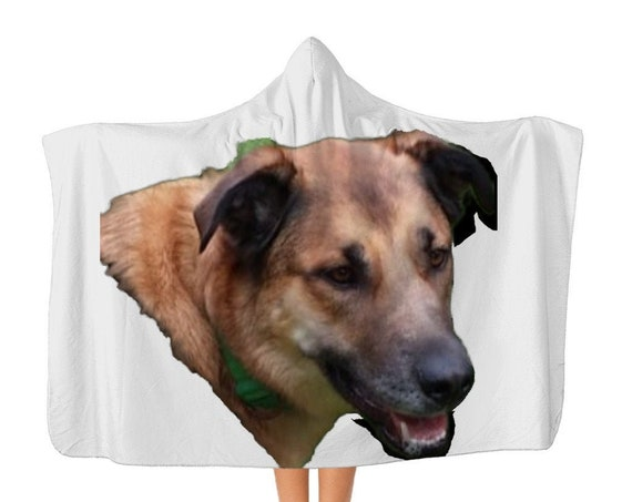 Belgian Malinois Dog Head Classic Adult Hooded Blanket