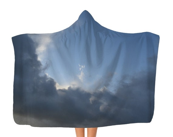 Stormy clouds Classic Adult Hooded Blanket