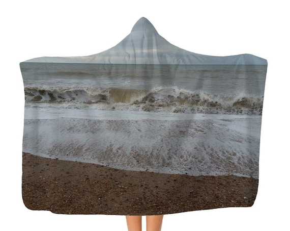 Raging Waves Classic Adult Hooded Blanket
