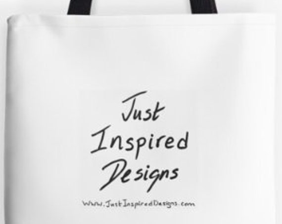 Tote Bag Just Inspired Designs double sided lined
