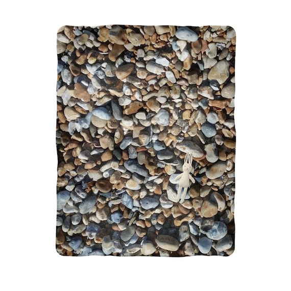 Pebbles on Beach Sublimation Baby Blanket