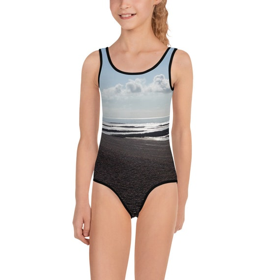 Beach at Sunset All-Over Print Kids Swimsuit