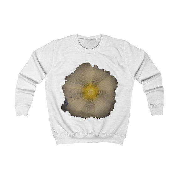 Abstract Hollyhock Design Kids Sweatshirt