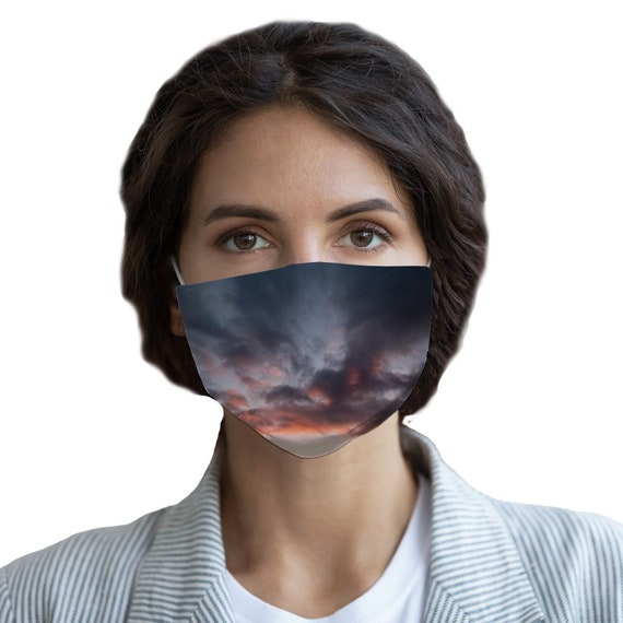 Sunset over the Coast Sublimation Face Mask