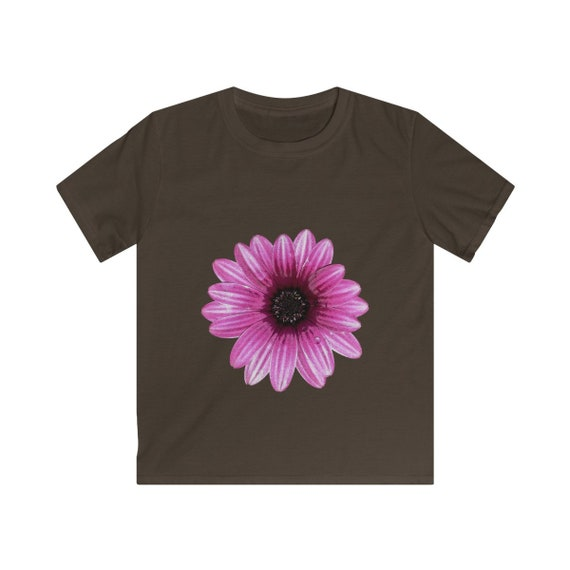 Pink Dahlia Flower Kids Softstyle Tee