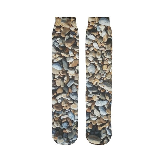 Pebbles on Beach Sublimation Tube Sock