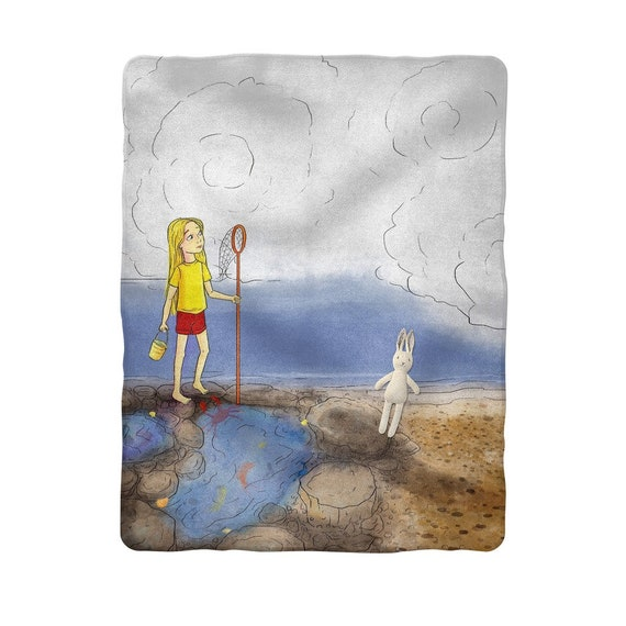 Emma Rose on the Rocks Sublimation Baby Blanket