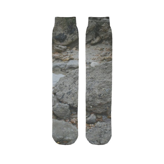 Rocks and Rock Pools Sublimation Tube Sock