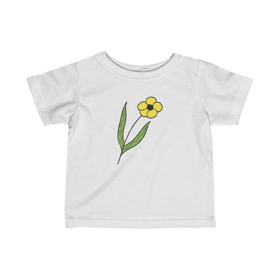 Yellow Flower Infant Fine Jersey Tee