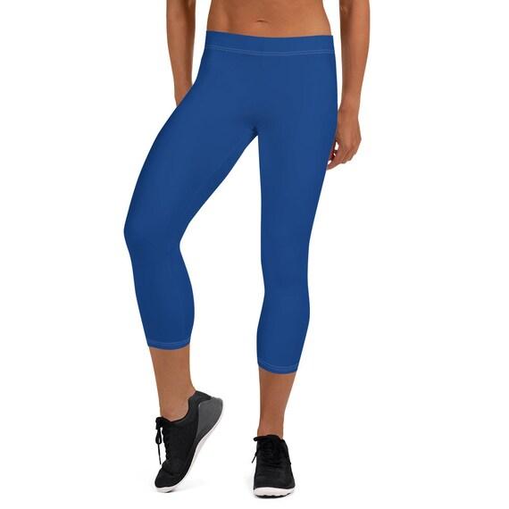 Blue Adult Capri Leggings