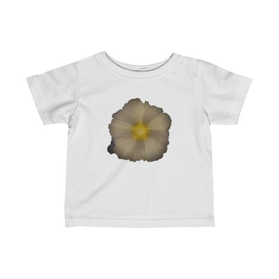 Abstract Hollyhock Flower Design Infant Fine Jersey Tee