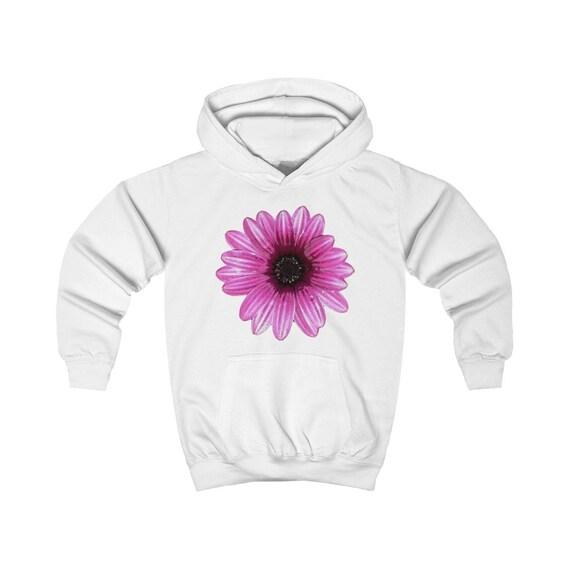 Pink Dahlia Design Kids Hoodie