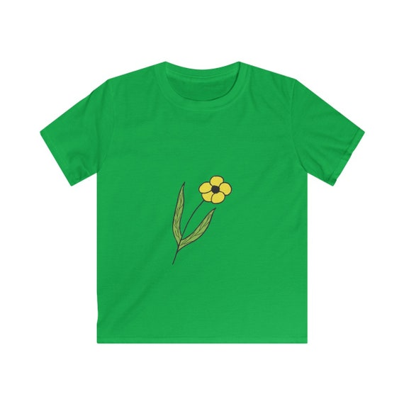 Yellow Flower Kids Softstyle Tee
