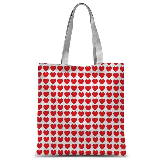 Hearts Classic Sublimation Tote Bag