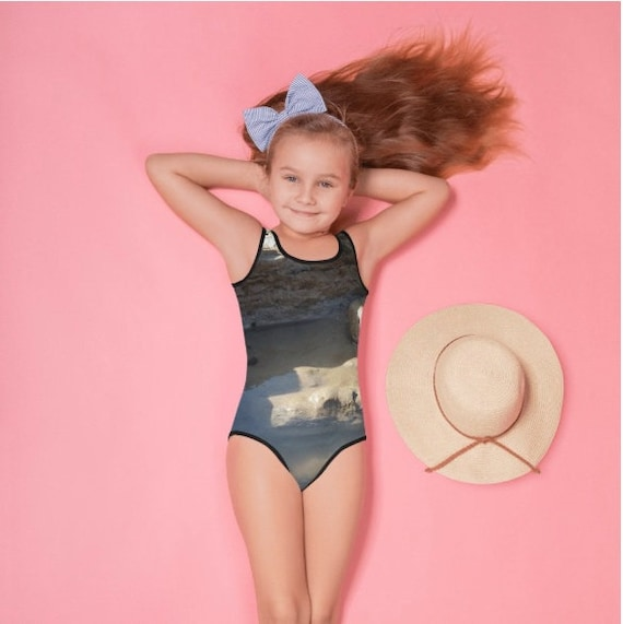 Rock Pool on Beach All-Over Print Kids Swimsuit