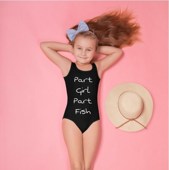 Part Girl Part Fish All-Over Print Kids Swimsuit