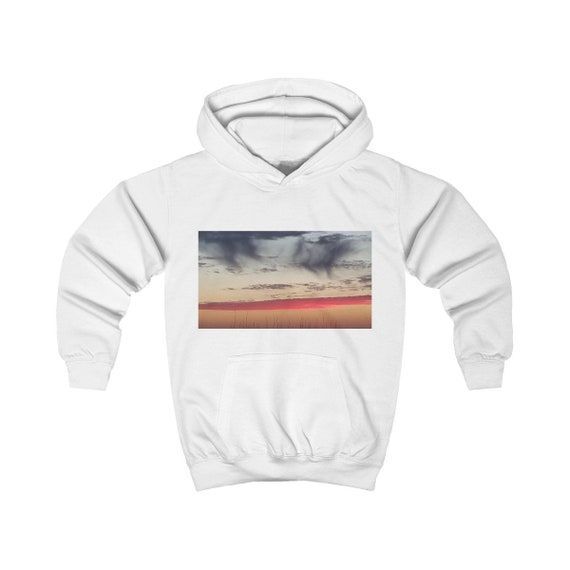 Red Sky at Night Design Kids Hoodie