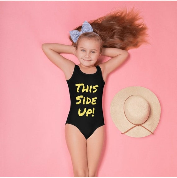 This Side Up All-Over Print Kids Swimsuit