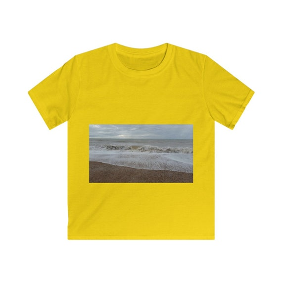 Raging Waves Design Kids Softstyle Tee