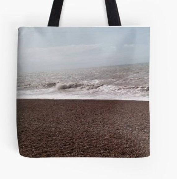 Tote Bag Storm Waves design double sided lined