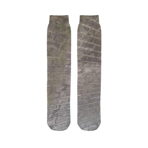 Brick Wall Sublimation Tube Sock