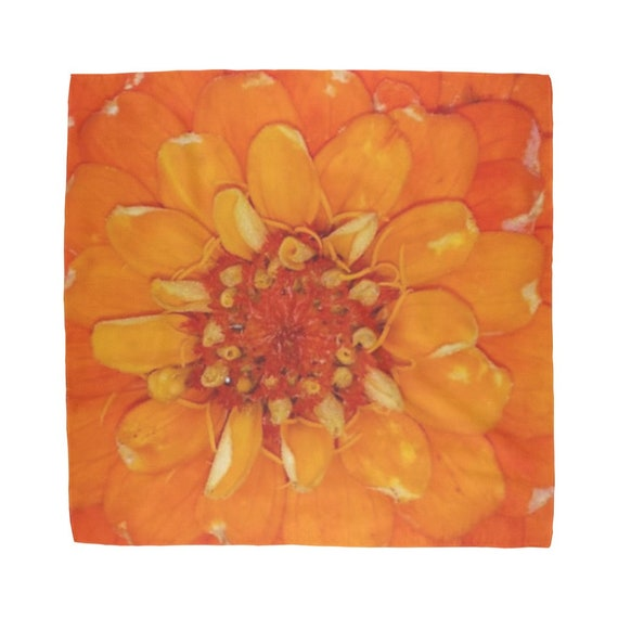 Orange Zinnia Flower Sublimation Bandana